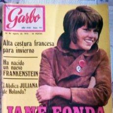 Collectionnisme de Magazine Garbo: REVISTA - GARBO - Nº 912 DEL AÑO 1970. CON JANE FONDA. Lote 132176598