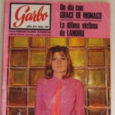 Coleccionismo de Revista Garbo: GARBO 781 FEBRERO 1968 SANDIE SHAW GRACE KELLY TERESA GIMPERA LANDRU . Lote 132285050