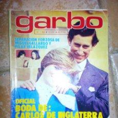 Coleccionismo de Revista Garbo: REVISTA GARBO MARZO 1981. Lote 137113173