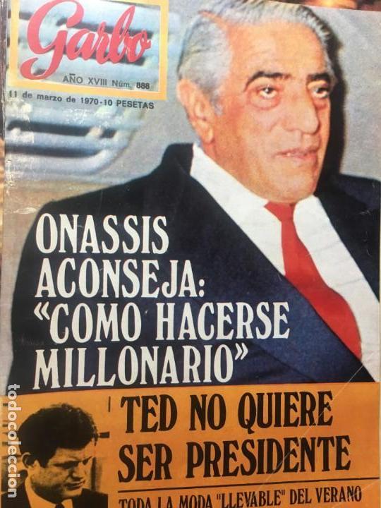 REVISTA MAGAZINE GARBO Nº 888 ONASSIS, TED KENNEDY (Coleccionismo - Revistas y Periódicos Modernos (a partir de 1.940) - Revista Garbo)