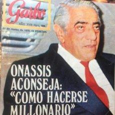 Coleccionismo de Revista Garbo: REVISTA MAGAZINE GARBO Nº 888 ONASSIS, TED KENNEDY. Lote 137321870