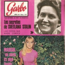 Coleccionismo de Revista Garbo: REVISTA GARBO Nº 757 MARISOL, THE BEATLES, SVETLANA STALIN, MINA, MIA FARROW, JACKIE KENNEDY. Lote 139630918