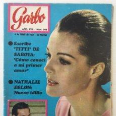 Coleccionismo de Revista Garbo: REVISTA GARBO AÑO XVII – Nº 848 – 4 DE JUNIO DE 1969. Lote 140796746
