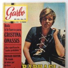 Coleccionismo de Revista Garbo: REVISTA GARBO AÑO XVIII – Nº 915– 16 DE SEPTIEMBRE DE 1970 - RAPHAEL. Lote 140932458