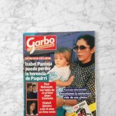 Coleccionismo de Revista Garbo: GARBO - 1985 - ISABEL PANTOJA, SILVIA TORTOSA, TINO FERNANDEZ (PARCHIS), NINA HAGEN, UN DOS TRES. Lote 141109526