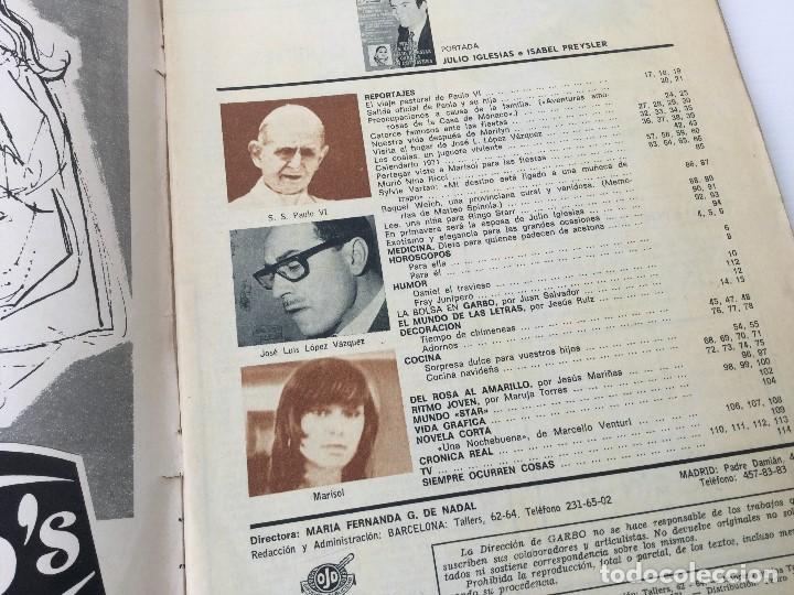 Coleccionismo de Revista Garbo: Revista Garbo año XVIII – nº 927 – 9 de Diciembre de 1970 – Julio Iglesias - Foto 3 - 141113794