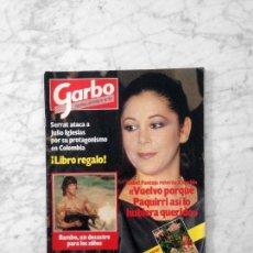 Coleccionismo de Revista Garbo: GARBO - 1985 - ISABEL PANTOJA, ROMINA POWER, ERNEST LLUCH, NASTASSJA KINSKI, ESTEFANIA, MARIA CASAL. Lote 141242542