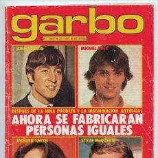 Colecionismo da Revista Garbo: GARBO - 1981 - KIKO LEDGARD, BRIAN MURPHY, CAROLINA, CARY GRANT, ASUNCIÓN VITORIA, MUJERCITAS. Lote 45451010