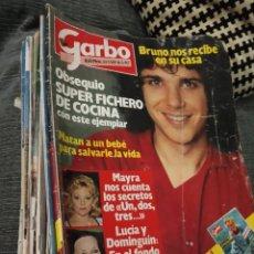Coleccionismo de Revista Garbo: LOTE DE 36 REVISTAS ANTIGUAS- GARBO - LABORES DEL HOGAR - PRONTO - GANCHILLO.... Lote 142835354