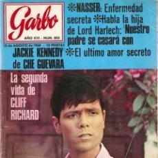 Coleccionismo de Revista Garbo: REVISTA GARBO Nº 805 CLIFF RICHARD, CHE GUEVARA, SALVADOR DALÍ, MANOLO ESCOBAR, JOAN MIRÓ, . Lote 142906142