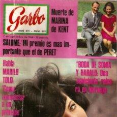 Coleccionismo de Revista Garbo: REVISTA GARBO Nº 809 MARILU TOLO, JANE BIRKIN THE BEATLES, SALOMÉ, CATHERINE SPAAK, JOSEPHINE BAKER. Lote 142909874