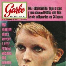 Coleccionismo de Revista Garbo: REVISTA GARBO Nº 811 MIA FARROW, ALAIN DELON, IRA DE FUSTENBERG, LUIS GARCIA BERLANGA. Lote 142912878