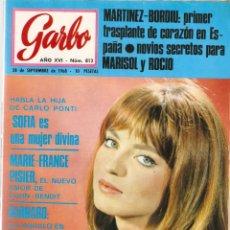 Coleccionismo de Revista Garbo: REVISTA GARBO Nº 812 MARISOL Y ROCIO DURCAL, JAIME DE MORA Y ARAGÓN, ROMY SCHNEIDER, ZSA ZSA GABOR. Lote 142914014