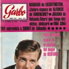 Coleccionismo de Revista Garbo: REVISTA GARBO Nº 813 ROGER MOORE, SENTA BERGER, RAPHAEL, MISS EUROPA, MARY HOPKIN PAUL MCCARTNEY. Lote 142915174