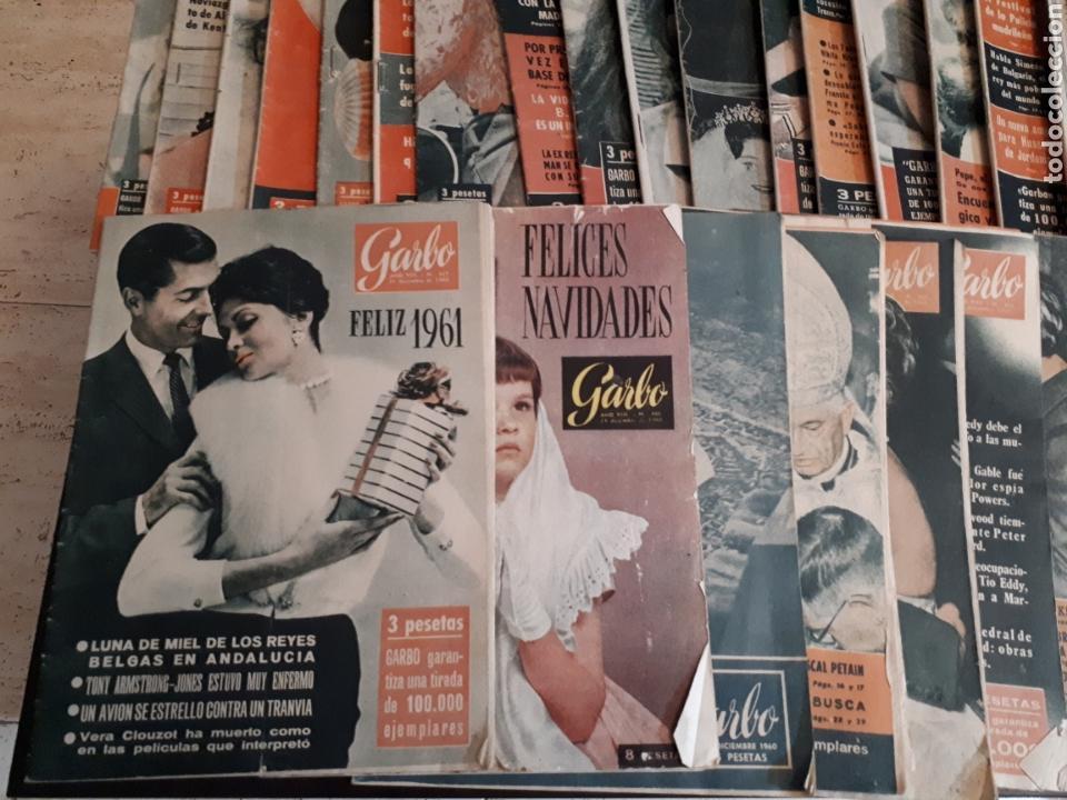 Coleccionismo de Revista Garbo: Lote de 44 revistas GARBO de las 52 que componen el año 1960 leer descripción - Foto 2 - 143540765