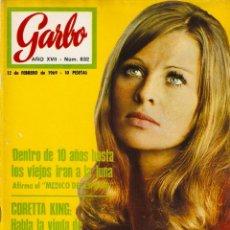 Coleccionismo de Revista Garbo: GARBO 832 JULIE CHRISTIE, CORETTA KING, BORIS KARLOFF, SAN REMO 69, ALAIN DELON, BRITT EKLAND . Lote 143889030