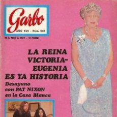 Coleccionismo de Revista Garbo: REVISTA GARBO Nº 842 JOHN LENNON Y YOKO ONO, THE MONKEES, ELVIS PRESLEY, VICTORIA EUGENIA. Lote 143896550