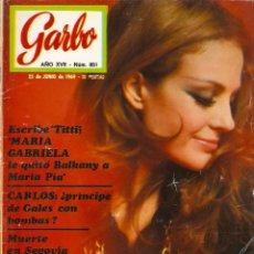 Coleccionismo de Revista Garbo: REVISTA GARBO 851 CARMEN SEVILLA, JOHNNY HALLYDAY, CARLOS DE INGLATERRA, ALBERTO Y PAOLA DE BÉLGICA. Lote 143899122