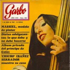 Coleccionismo de Revista Garbo: REVISTA GARBO Nº 852 MASSIEL, CHICHO IBAÑEZ SERRADOR, GERALDINE CHAPLIN Y CARLOS SAURA, . Lote 143899894