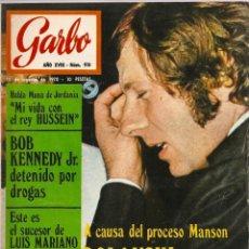 Coleccionismo de Revista Garbo: REVISTA GARBO 910 ROMAN POLANSKI CHARLES MANSON MARÍA JOSÉ GOYANES GRACE KELLY BEATLES TERASA RABAL. Lote 145185170