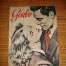 Coleccionismo de Revista Garbo: (TC-150) REVISTA COLECCIONISTA GARBO Nº 1 ORIGINAL 14 DE MARZO 1953. Lote 145786522