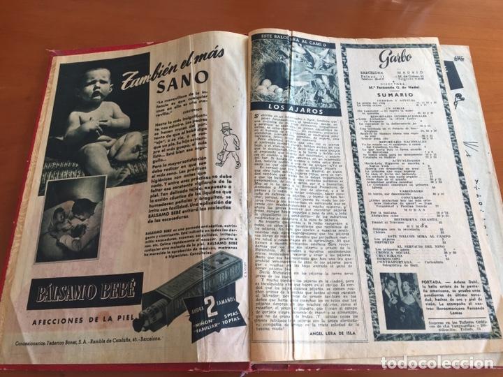 Coleccionismo de Revista Garbo: Tomo encuadernado revistas Garbo año 53/54 - Foto 2 - 146726170