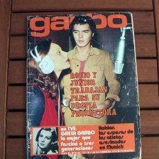 Coleccionismo de Revista Garbo: GARBO / ROCIO DURCAL & JUNIOR, GRETA GARBO, SUE LYON, ANA BELEN, DIANA DORS, LITA TRUJILLO, HOMBRE. Lote 146774434
