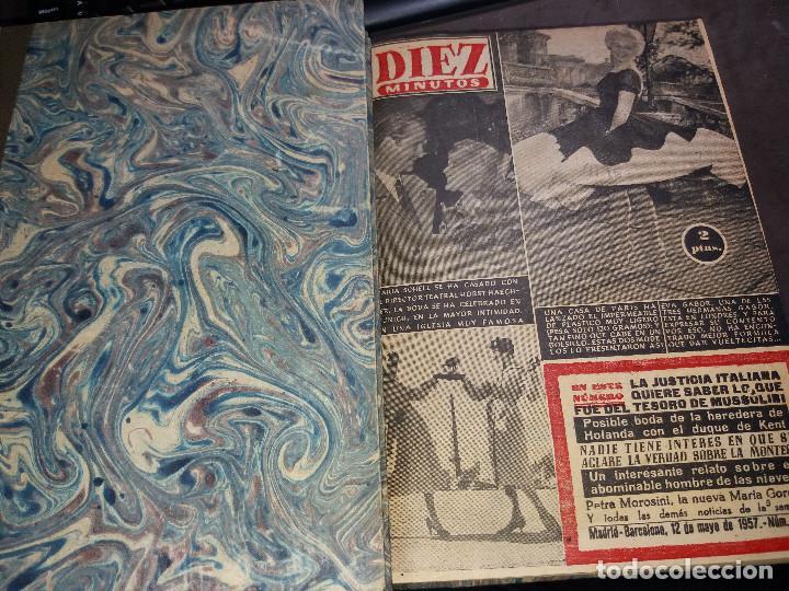 TOMO REVISTAS * DIEZ MINUTOS * DEL Nº 298 AL 325 AÑO 1957 - (Coleccionismo - Revistas y Periódicos Modernos (a partir de 1.940) - Revista Garbo)