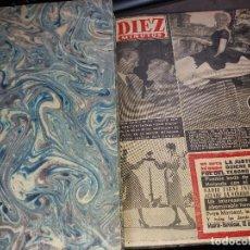 Coleccionismo de Revista Garbo: TOMO REVISTAS * DIEZ MINUTOS * DEL Nº 298 AL 325 AÑO 1957 -. Lote 151299934