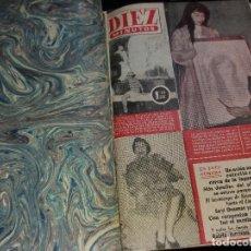 Coleccionismo de Revista Garbo: TOMO REVISTAS * DIEZ MINUTOS * DEL Nº 235 AL 266 AÑO 1956 -. Lote 151300334