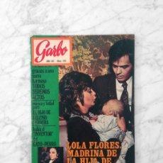 Coleccionismo de Revista Garbo: GARBO - 1971 - ROCIO DURCAL Y JUNIOR, JUAN CARLOS Y SOFIA, NINA DEMESTRE, GIACOMO AGOSTINI, AZNAVOUR. Lote 151487726