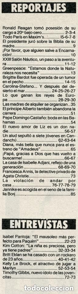 Coleccionismo de Revista Garbo: GARBO - 1985 CAROLINA, JULIO IGLESIAS, BRIGITTE BARDOT, ISABEL PANTOJA, BRITT EKLAND, KELLY LEBROCK - Foto 2 - 151712498