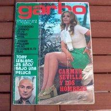Coleccionismo de Revista Garbo: GARBO / ROCIO JURADO, CARMEN SEVILLA, MARI TRINI, CELIA GAMEZ, MASSIEL, TONY LEBLANC, HOMBRE, BARDOT. Lote 152018990