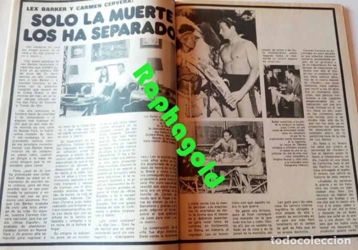 Coleccionismo de Revista Garbo: GARBO nº 1047 Camilo Sesto Maribel Martín Lex Barker Carmen Cervera Bette Davis Rosemarie Dexter - Foto 5 - 209340743