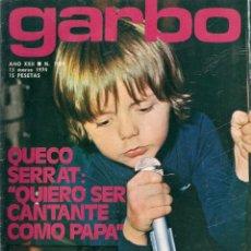 Coleccionismo de Revista Garbo: REVISTA GARBO 1089 QUECO SERRAT MARISOL, TERESA RABAL, VIUDA NINO BRAVO MARJORIE WALLACE MISS MUNDO. Lote 154516258