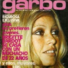 Coleccionismo de Revista Garbo: REVISTA GARBO Nº 1148 BRIGITTE BARDOT MANOLO SIERRA MARIA LUISA SAN JOSE JUAN PARDO JULIO IGLESIAS. Lote 155359334