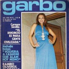 Collectionnisme de Magazine Garbo: REVISTA GARBO Nº 1160 CARMEN SEVILLA, BARBARA REY, FESTIVAL BENIDORM, EUROVISION, SANDRA MOZAROWSKY. Lote 173527054