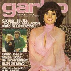 Coleccionismo de Revista Garbo: REVISTA GARBO 1203 CARMEN SEVILLA BARBARA REY BEATRIZ ESCUDERO ROCIO JURADO CHICHO IBAÑEZ SERRADOR. Lote 158381350