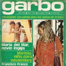 Colecionismo da Revista Garbo: REVISTA GARBO 1213 RAPHAEL DIANA ROSS FEDRA LORENTE IVONNE SENTIS PETER FALK ANALIA GADÉ DORIS DAY. Lote 175487240