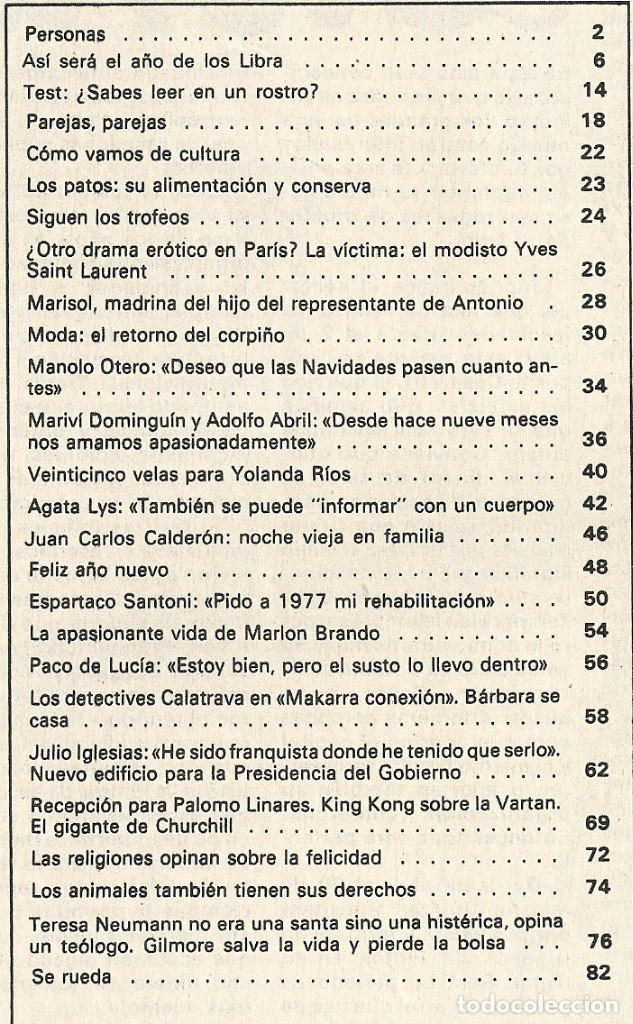 Coleccionismo de Revista Garbo: Revista Garbo nº 1235 Agata Lys Marisol Julio Iglesias Marlon Brando Espartaco Santoni Manolo Otero - Foto 8 - 173527935
