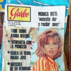 Coleccionismo de Revista Garbo: REVISTA GARBO: Nº 736, 15-04-1967: ACCIDENTE BEATRIZ DE SABOYA CON UNA PISTOLA. JOYAS CORONA SUECA.. Lote 158825430