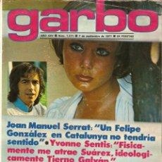 Colecionismo da Revista Garbo: GARBO Nº 1271 IVONNE SENTIS SANDRA MOZAROWSKY JUNIOR ELVIS PRESLEY ISABEL LUQUE MISS ESPAÑA SERRAT. Lote 159965578