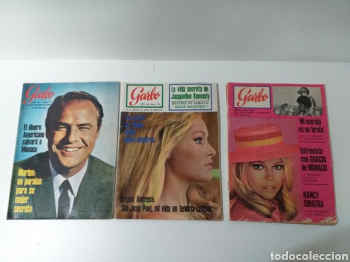 LOTE DE 3 REVISTAS GARBO (Coleccionismo - Revistas y Periódicos Modernos (a partir de 1.940) - Revista Garbo)