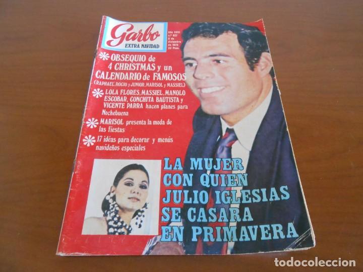 GARBO EXTRA DE NAVIDAD 1970 CURIOSA FOTO DE ISABEL PREYSLER EN PORTADA (Coleccionismo - Revistas y Periódicos Modernos (a partir de 1.940) - Revista Garbo)