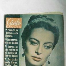 Coleccionismo de Revista Garbo: REVISTA GARBO N 566 ENERO 1964. Lote 168178040