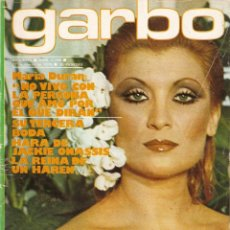 Coleccionismo de Revista Garbo: REVISTA GARBO Nº 1299 MARIA DURÁN TRIO ACUARIO LOLA FLORES ROCIO DURCAL JUNIOR UMBERTO TOZZI ONASSIS. Lote 168271044