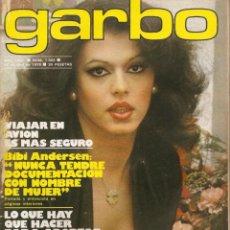 Coleccionismo de Revista Garbo: GARBO Nº 1302 BIBI ANDERSEN JOSE SACRISTAN LOREDANA BERTE STARSKY Y HUTCH SARA MORA ADRIANA VEGA. Lote 168273088