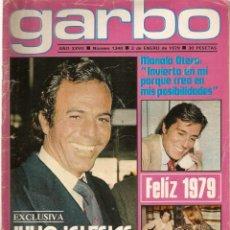 Colecionismo da Revista Garbo: REVISTA GARBO Nº 1340 JULIO IGLESIAS TRIO ACUARIO MARÍA JOSÉ CANTUDO LOLO GARCÍA TOBI UMBERTO TOZZI. Lote 169015912