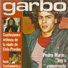Colecionismo da Revista Garbo: REVISTA GARBO Nº 1387 PEDRO MARÍN ELVIS PRESLEY SHAUN CASSIDY MISS MUNDO DALLAS MARILYN MONROE MABEL. Lote 169131440