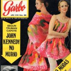 Coleccionismo de Revista Garbo: REVISTA GARBO DEL 25 FEBRERO 1970 *** JULIO IGLESIAS *** JOHN KENNEDY *** MIKE KENNEDY *** ADAMO. Lote 169219636